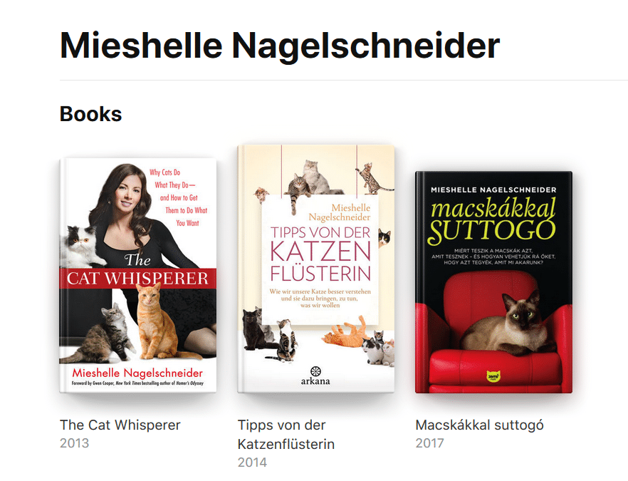 Cat Behaviorist Mieshelle Nagelschneider Cat Behavior Books
