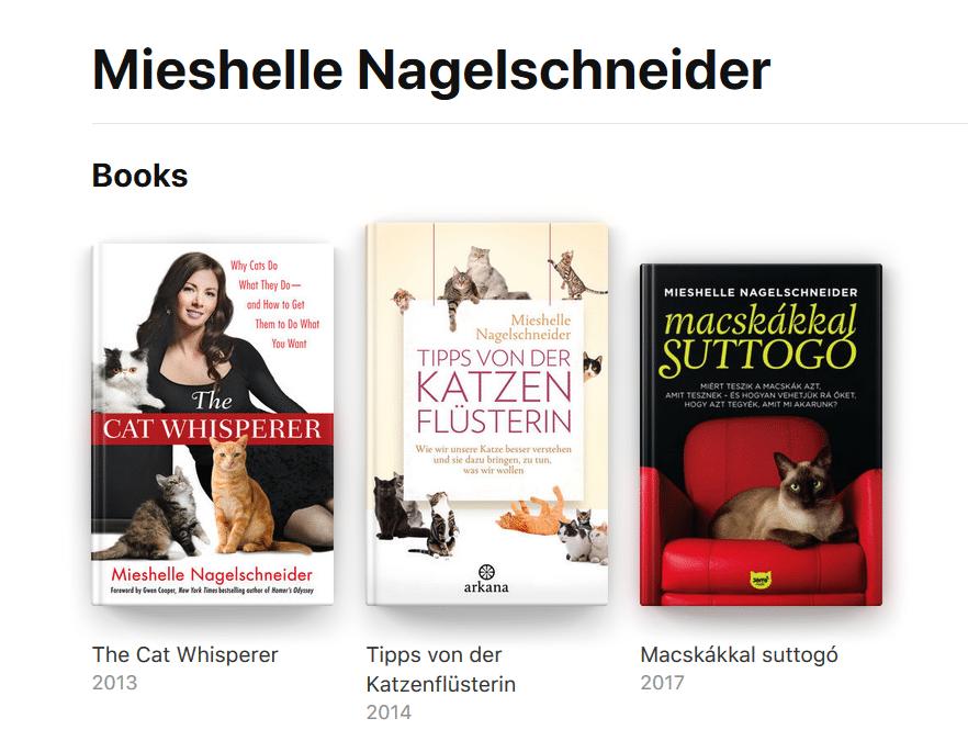 Cat Behaviorist Mieshelle Nagelschneider Cat Behavior Books